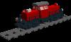 Rangierlok Baureihe 214 der DB