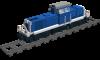 Rangierlok Baureihe 290 der DB in beige/ozeanblau