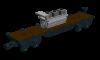 Flachwagen mit Ladegut